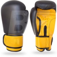 BF Black/Yellow Custom leather Boxing Gloves