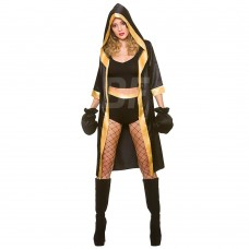 Full Length Professional Boxing Robes Fighter Gowns