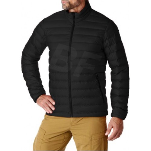 Black 100% Nylon with coating winter down jacket