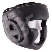 Black Leather protection Head Guard