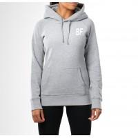 Grey women long sleeve gym hoodie