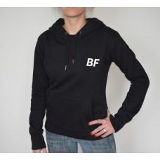 Women black pullover hoodie gym hoodie