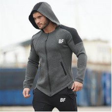 High Quality Blank Custom Two Color Hoodies Gym Mens Fashion