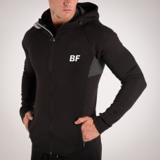 Men black zip up hoodie with side zip