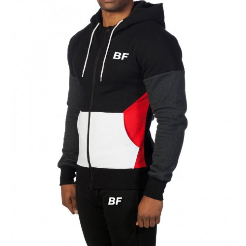fitness clothing custom embroidered gym men's hoodie