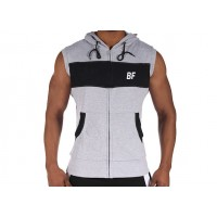 Gym sleeveless grey/black hoodie