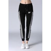 Women top quality black/white gym jogger yoga sweatpants
