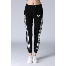 Women top quality black/white gym jogger yoga sweatpants
