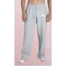 Grey fleece high quality men gym wear sweatpants