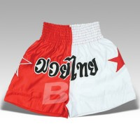 Red/White Men Kick Boxing Shorts