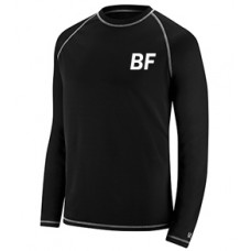 High Quality Black Anti Pilling Polyester Men Rash Guard