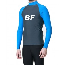 OEM wholesale Blue/Black long sleeves men rash guard