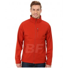 Orange Men's Polyester Soft Shell Windbreaker Hiking Jacket