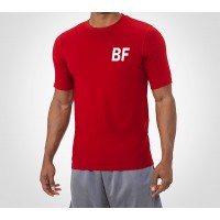 Red Summer Men Gyms Tight T shirt