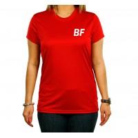 Women Red Short sleeve Sport T shirt